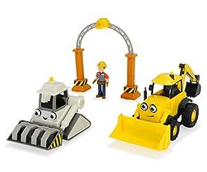 Simba Dickie Toys 203134006-Bob el Constructor de Juego de Garaje con Baggy y Rocky