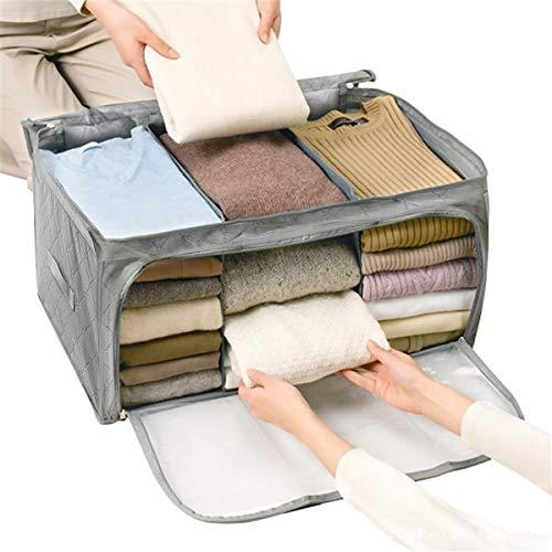 Janolia scatole per armadio, borsa pieghevole per vestiti, scatole con cerniera per biancheria, tessuto di bambù ecologico, antibatterico, anti acari e muffe, contenitori per armadio traspiranti