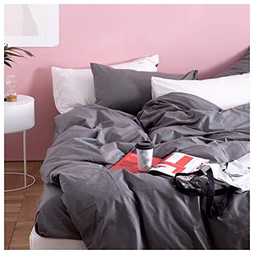 HLJ DCS Bettwäsche 4tlg 100% Baumwolle Bettbezug Mit Reißverschluss Kissenbezüge Spannbetttuch Betten Sets Weich Und Extrem Haltbar Für Doppelbett