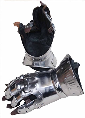 Churburg Panzerhandschuhe - 1,6 mm Stahl mit Stahlschmuck / Mittelalterlicher Ritter Panzerhandschuhe / Rüstung Kostüm / Mittelalterliche Rüstung perfekt für Reeanctment (Mittelalterliche Kostüm Rüstung)