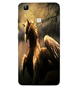 ColourCraft Fantasy Animal Design Back Case Cover for VIVO V3 MAX