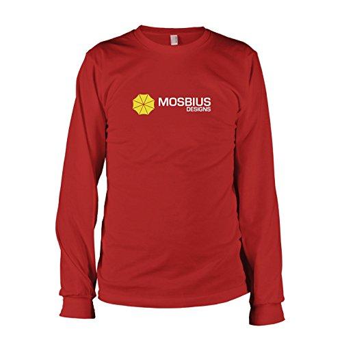 TEXLAB - HIMYM: Mosbius Designs - Langarm T-Shirt, Herren, Größe M, rot (Ted Kostüm Himym)