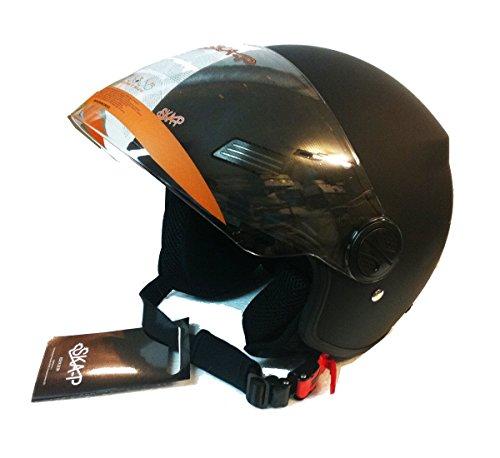 Preisvergleich Produktbild Helm Jet 1LH Urban Forever Young ska-p schwarz Größe M