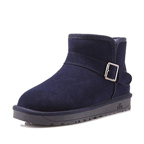 HAIZHEN  Stivaletto Scarpe da passeggio invernale da donna Scarpe da passeggio invernale Casual Flat Heel Flat 8 Colori Flat 098in (2.5cm) Per 18-40 anni ( Colore : A , dimensioni : EU36/UK3.5/CN35 ) G.