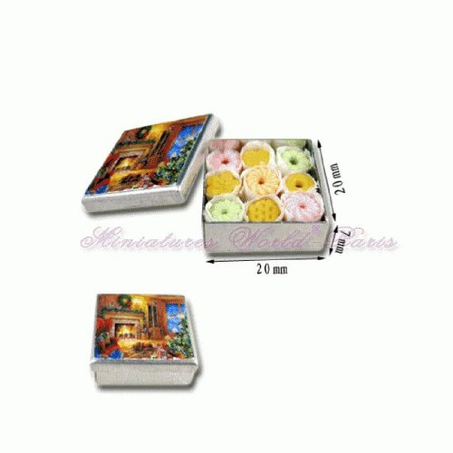 Accesoire miniature de maisons de poupées - Boite de biscuits