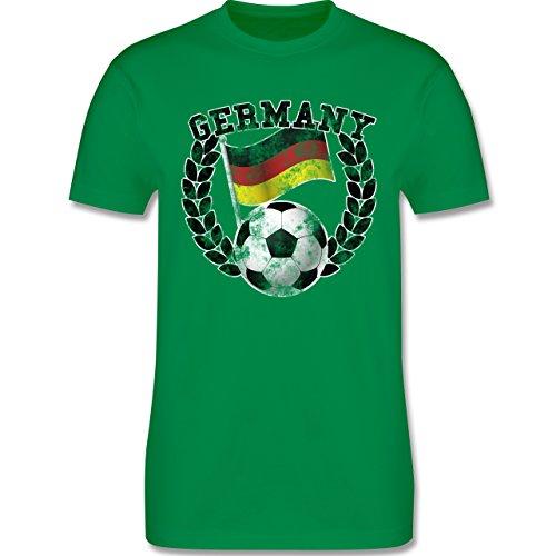 EM 2016 - Frankreich - Germany Flagge & Fußball Vintage - Herren Premium T-Shirt Grün