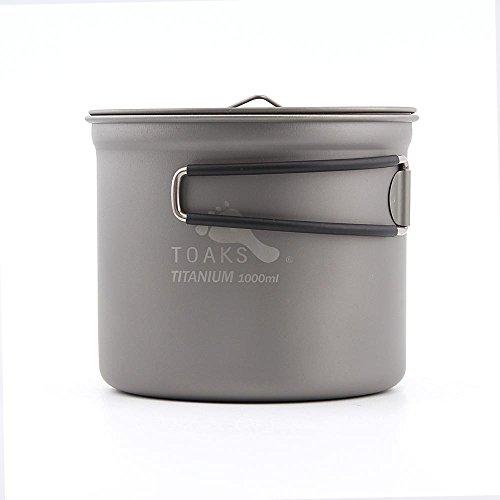 TOAKS pot-1000Titanium Pot Cup Outdoor Camping Titanium bowlwith Cover