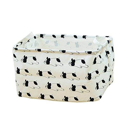 Inwagui Niedlich Tier Muster Aufbewahrungsbox Organizer Wasserdicht Wäschebox aus Baumwolle Faltbare Aufbewahrungskorb - Hund B (Wasserdicht Bettwäsche Hund)
