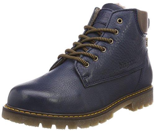 Bisgaard Unisex-Kinder 60328218 Combat Boots, Blau (604 Blue), 39 EU (Combat Stiefel Für Kinder, Mädchen)
