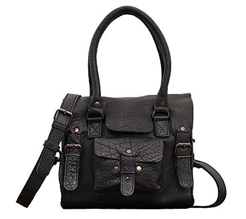 LE RIVE GAUCHE S Noir sac bandoulière cuir style vintage PAUL MARIUS