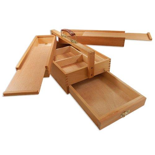 Artina Malkasten 'Vannes' | Utensilienbox | Malkoffer | Holz | 4 Staufächer