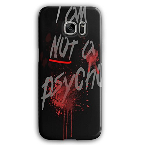 Wellcoda Psycho Halloween GruselHülle für Samsung Galaxy, S7 Edge Verrückt Rutschfeste Hülle - Slim Fit, Schutzhülle, bequemer Griff