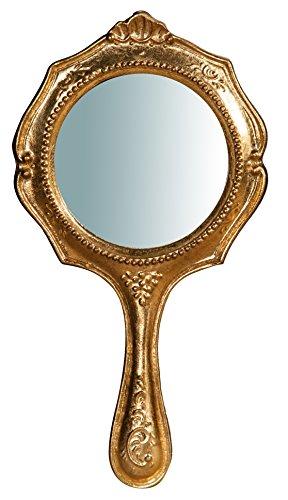 z Finish Blattgold Antik Made in Italy L15x pr1,5X h29Cm (Holz-hand-spiegel)