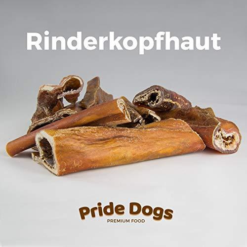PrideDogs Rinderkopfhaut 1000g der Premium Kausnack für Ihren Hund | 100% Rind aus Deutscher Herstellung | im geruchsneutralen Beutel | Kauartikel - Knochen Hund Hunde Mittelgroße Für