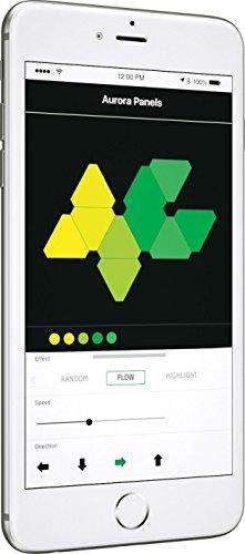 nanoleaf Light Panels (Aurora) Rhythm Starter Kit - 9x Modulare Smarte LED & Sound Modul - Lichtpanels mit App Steuerung [Erweiterbar | 16 Millionen Farben | Alexa kompatibel | Plug and Play | iOS (Apple Home Kit kompatibel) & Android] [Energieklasse A] - 9