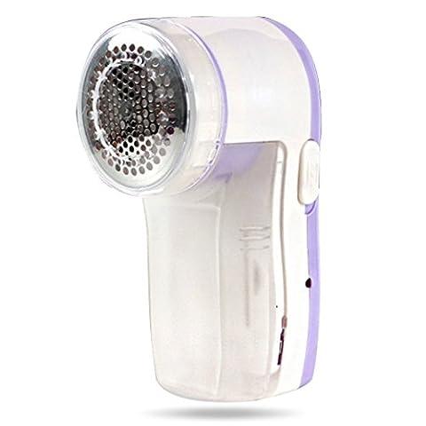 Sikenuo Vêtements Lint Remover Shaver-fabric rasoir pour Pull Rideaux moquettes rapporter Nettoyer Machine-removes Fuzz, peluches et bouloches, fonctionne avec pile, Random Color