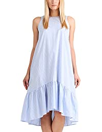 APART Fashion Fashion: Summer Highlights Blue Stripes, Robe Femme