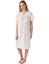 35e54e2275 Lady Olga Ladies Incontinence Open Back Floral Hospital Nightdress Nightie  Size 12-26