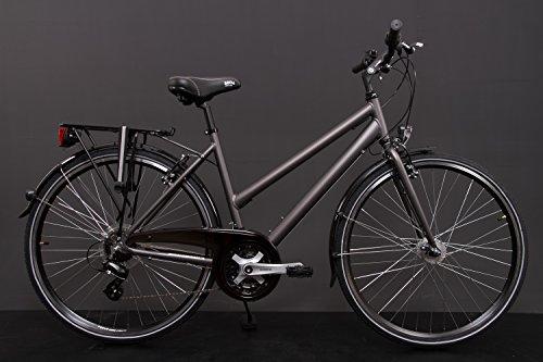 "28"" Zoll Alu MIFA Damen Trekkingbike Fahrrad Shimano 21 Gang Nabendynamo grau Rh 50cm"