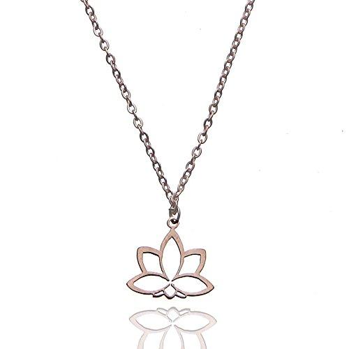 Tara Kette Lotus Blume : Metallfarbe – Silber – Gelbgold – Rosegold