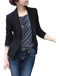 Chaquetas De Mujer Talla Grande Fashion Elegantes Negocios Oficina  Sencillos Especial Blazer Manga Larga De Solapa 620fa30ec5228