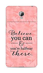 AMEZ believe you can and you are there halfway Back Cover For Lenovo Vibe P1