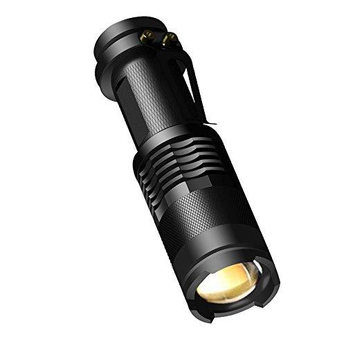 Mini Taschenlampe, CREE LED Mini Taschenlampe Wasserdicht Mini-Taschenlampe, 300 Lumen mit 3 Modus Mini Handlampe LED Camping Handlampe Geeignet für AA oder 14500 Akku (Nicht Enthalten) (Helle Beginnen Aktivität)