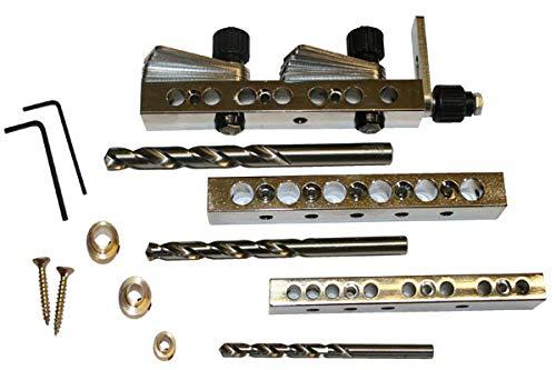 Gemeinsame Genie Multi Professional Kit 6/8/10mm Dübel Werkzeug für Präzision verdichtetem von Möbeln, DIY Projekte, Zimmerei, Garten Möbel, Küchen Armatur. Ideal für alle Holz-BEDÜRFNISSE Wo stark ist erforderlich Einfache, Präzise und einfach zu nutzen Dübel Jig.