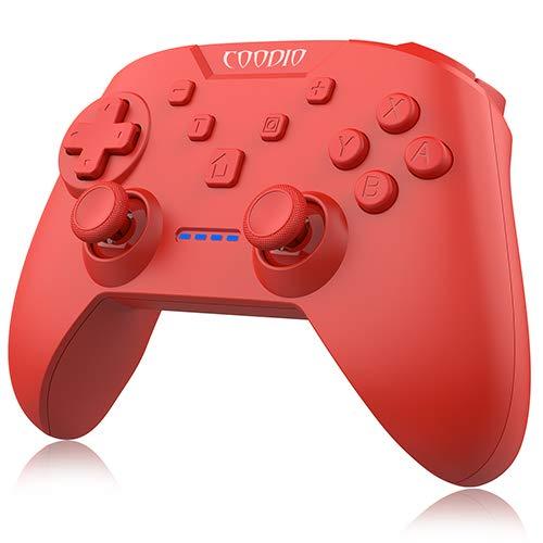 COODIO Pro Controller Per Nintendo Switch, Wireless Switch Pro Controller Funzione di vibrazione Turbo Accessorio Per Ninendo Switch, Rosso
