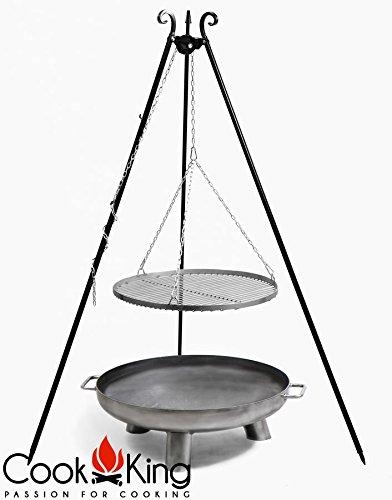 COOK KING BBQ Schwenkgrill Rohstahlrost 70cm + Feuerschale Bali 70 cm ***NEU***