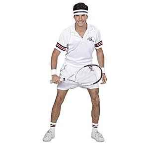 WIDMANN 01631adultos Disfraz tenistas, hombre, blanco, S