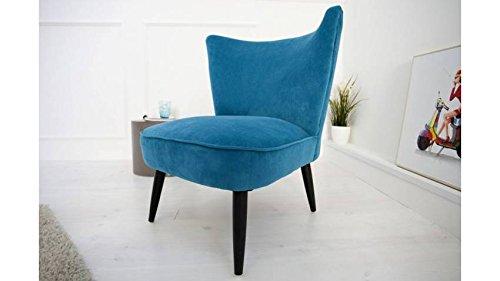 mobilier nitro Fauteuil Design rétro Johan Bleu pétrole