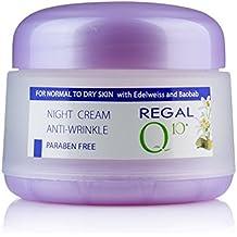 Regal Q10+ - Crema de Noche Antiarrugas con Aceite de Baobab y Edelweiss para Piel Normal
