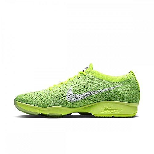 NIKE Womens Flyknit Zoom Agility Running Trainers Sneakers Shoes, Volt White Electric Green, 9 U.S. (Flyknit Nike Gelb Damen)