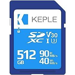 512GB Carte SD Classe 10 Carte Mémoire Haute Vitesse Compatible avec Sony CyberShot RX-100 IV/V/VI, DSC-RX10 II/III, DSC-RX0, DSC-RX1R / RX1R II / RX10M4, DSC-HX99 Appareil Photo   512 GB UHS-1 U3