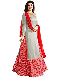 AnK Women's Georgette & Banglori Silk Semi-stitched Salwar Suit