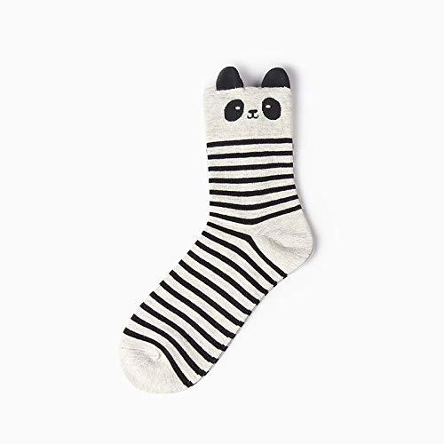 KDBWDDP Socken 8 Farben Frauen Mädchen Baumwolle Socken Animal Print Lange SockeOhr