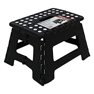 41eIg%2BdW9FL. SS300  - 150KG Single Step Plastic Folding Step Up Stools Collapsible Foldaway Large Heavy Duty