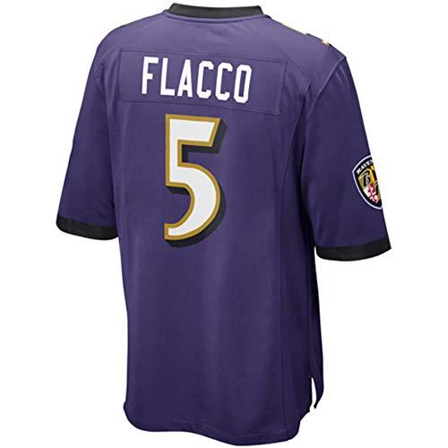 JEMWY Damen/Herren_Joe_Flacco_Lila_Sportbekleidung_Fußball_Spiel_Jersey Joe Flacco Jersey