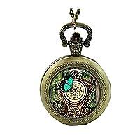 Steampunk clock Pocket Watch necklace Vintage Steampunk Butterfly Pocket Watch Steampunk Dragonfly Watch Jewelry