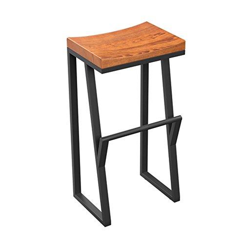 MAZHONG Tabourets Tabourets de bar en bois massif tabourets hauts loisirs chaise de bar chaise de bureau avant chaise de café (taille : 38cm*28cm*85cm)