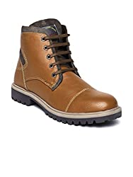 Provogue Mens Tan Synthetic Boots (PV7233) - 6 UK