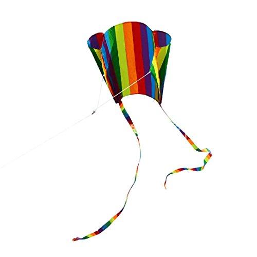 Kinder Outdoor Fun Spielzeug Bunte Mini Tasche Kite Sport Software Drachen Fliegen Keine Montage Erforderlich 52 * 63 cm (A)