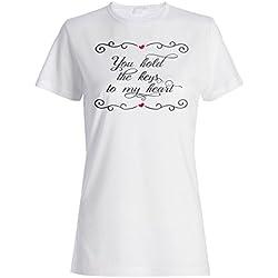 Tienes Las Llaves De Mi Corazón camiseta de las mujeres t814f