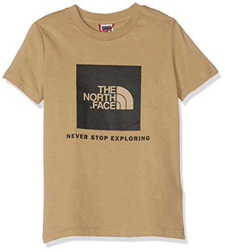 THE NORTH FACE Jungen Youth Box T-Shirt, TNF Black/Fiery Red, S - Youth S/s T-shirt