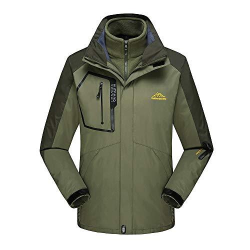 SUNFANY Winterjacke Mantel Jacke Herren Fleece Liner Outdoor Plus Size Hoodie Zweiteiler Sport Assault Coat.M - 9XL(Armeegrün,XXXL) Jacke Fleece Liner
