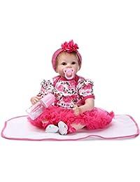 Preisvergleich für Big Baby Puppe Weiche Silikon Mädchen Puppe Mit Kleidung Nachahmung Baby Kinder Geburtstagsgeschenk Mutterschaft...