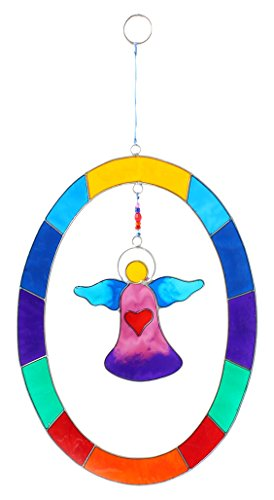 Quelque Chose de différent Angel Sun Catcher en Ovale, Multicolore