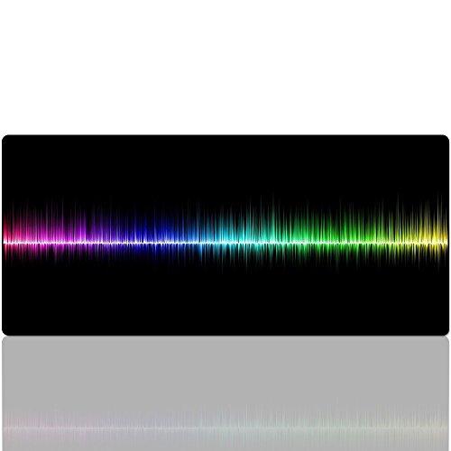 Beyme Gaming Mauspad, Extended XXL Regenbogen Mauspad/Wide Office Mauspad-Das Mauspad Größe:900 x 400 x 2 mm (90x40 Rainbow) (Wide Spitze Top)
