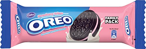 Cadbury Oreo Strawberry Crème Biscuit, 120 gm (Pack of 10)